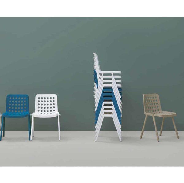 KOI side chair-BOOKI-370 Pedrali at DeFrae Contract Furniture In Situ
