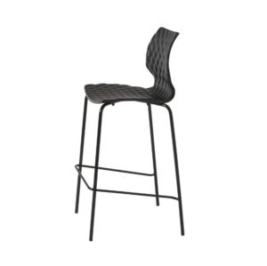 Kai Bar Stool Uni 378 Et Al Metal Frame DeFrae Contract Furniture Black