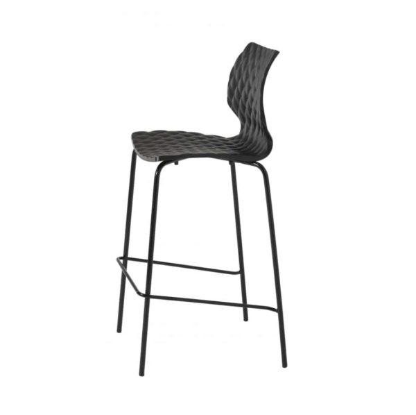 Kai Bar Stool Uni 378 Et Al Metal Frame DeFrae Contract Furniture Black