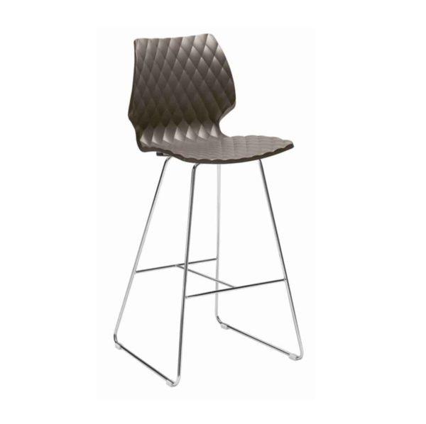 Kai Bar Stool Uni 391 Et Al Metal Frame Sled Base DeFrae Contract Furniture
