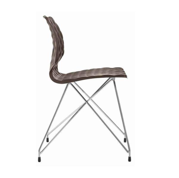 Kai Side Chair Uni 550 Et Al Metal Frame DeFrae Contract Furniture Eiffel Base