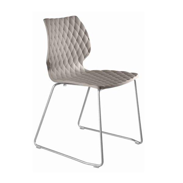 Kai Side Chair Uni 550 Et Al Metal Frame DeFrae Contract Furniture Sled Base