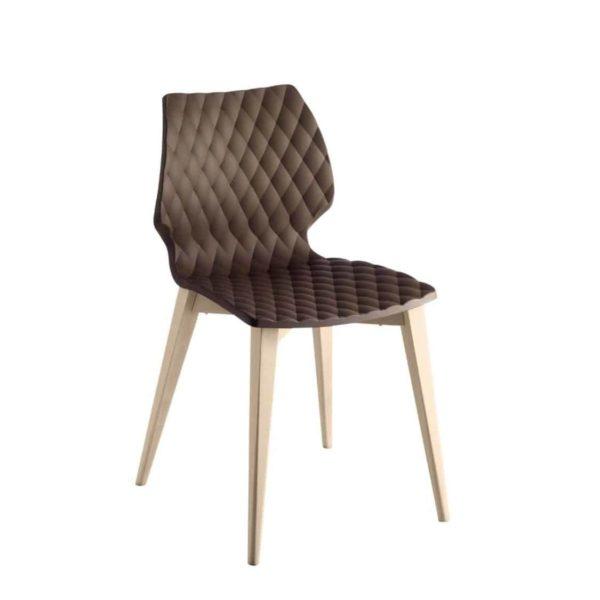 Kai Side Chair Uni 562 Et Al Wooden Frame DeFrae Contract Furniture Brown