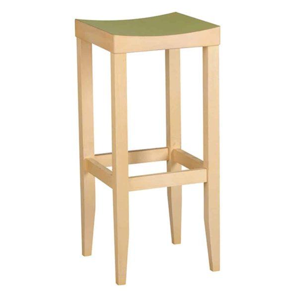 Kent bar stool wooden frame traditional bar stool DeFrae Contract Furniture