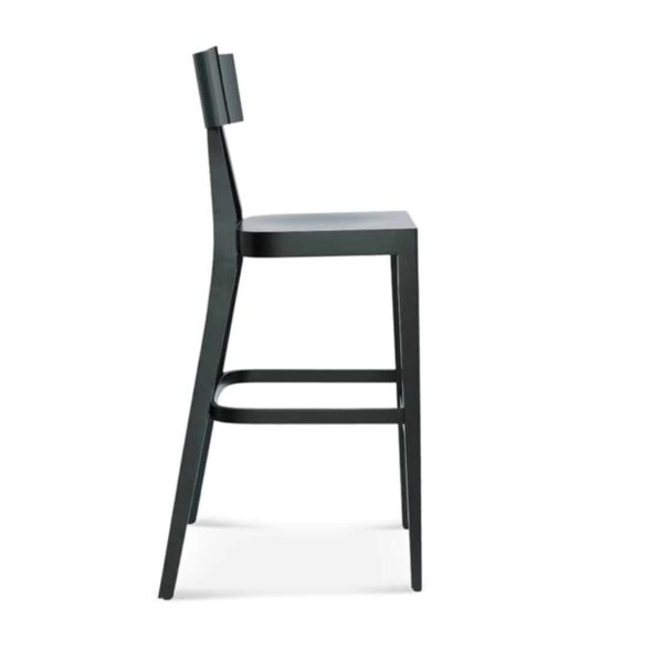 Kite Bar Stool Akka Black Wood Bar Stool DeFrae Contract Furniture
