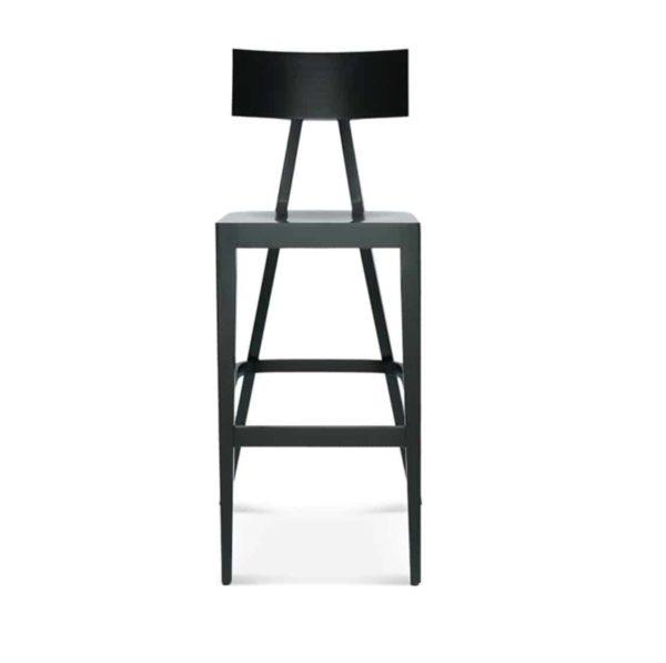 Kite Bar Stool Akka Black Wood Bar Stool DeFrae Contract Furniture Head On