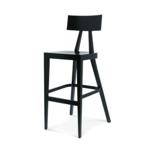 Kite Bar Stool Akka Black Wood Bar Stool DeFrae Contract Furniture Hero