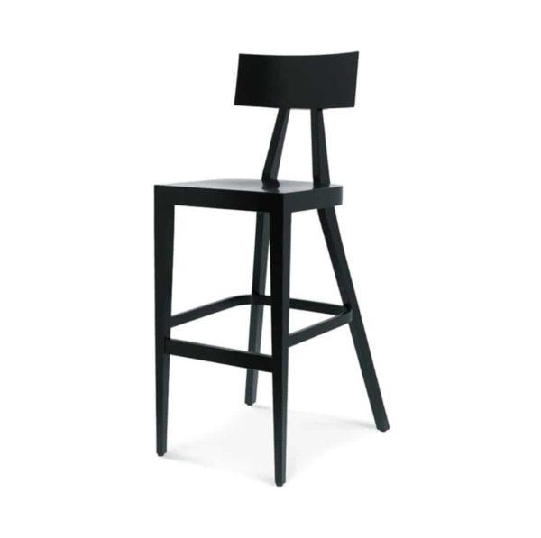 Kite Bar Stool Akka Black Wood Bar Stool DeFrae Contract Furniture Hero