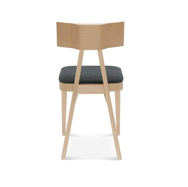 Kite Side Chair Akka Black Wood Bar Stool DeFrae Contract Furniture Upholstered Seat Back View