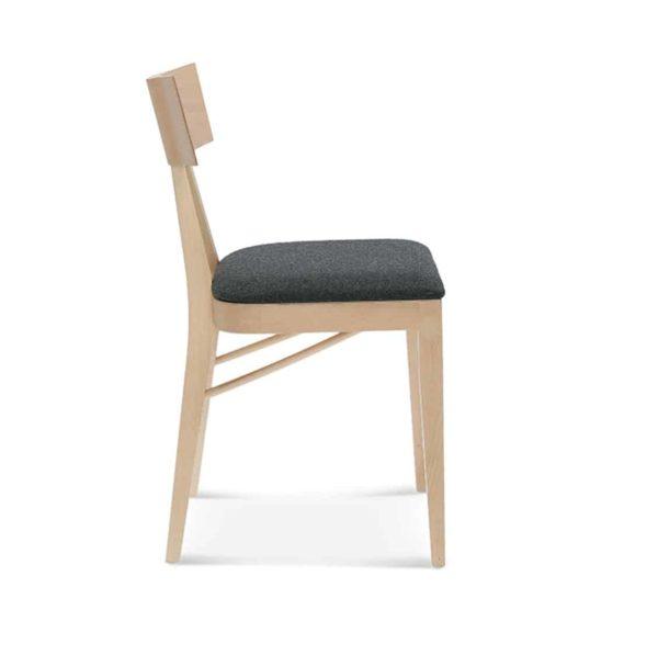 Kite Side Chair Akka Black Wood Bar Stool DeFrae Contract Furniture Upholstered Seat Side