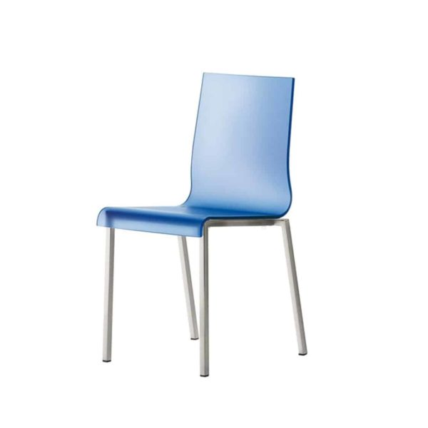 Kuadra Side Chair DeFrae Contract Furniture Blue