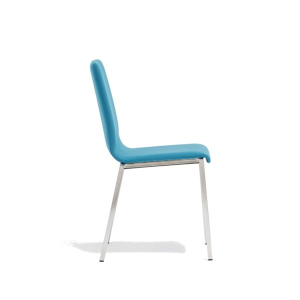Kuadra Side Chair DeFrae Contract Furniture Side Chair Blue Side