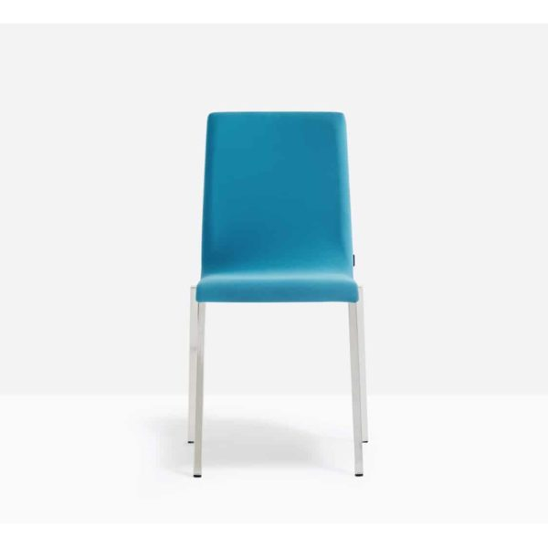 Kuadra Side Chair DeFrae Contract Furniture Side Chair Blue Upholstered