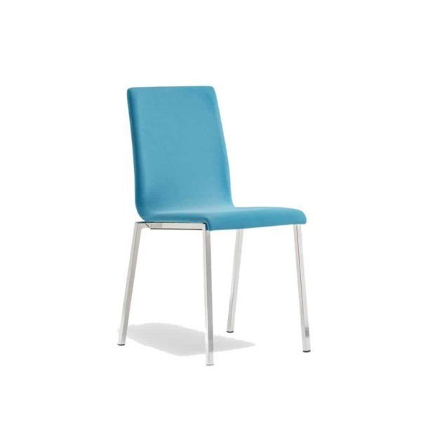 Kuadra Side Chair DeFrae Contract Furniture Side Chair Blue Upholstered Hero