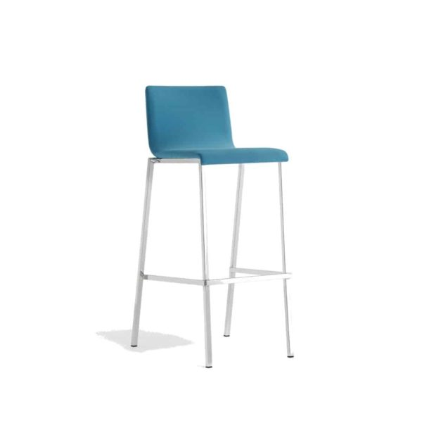 Kuadra Soft Bar Stool 1126 DeFrae Contract Furniture Blue