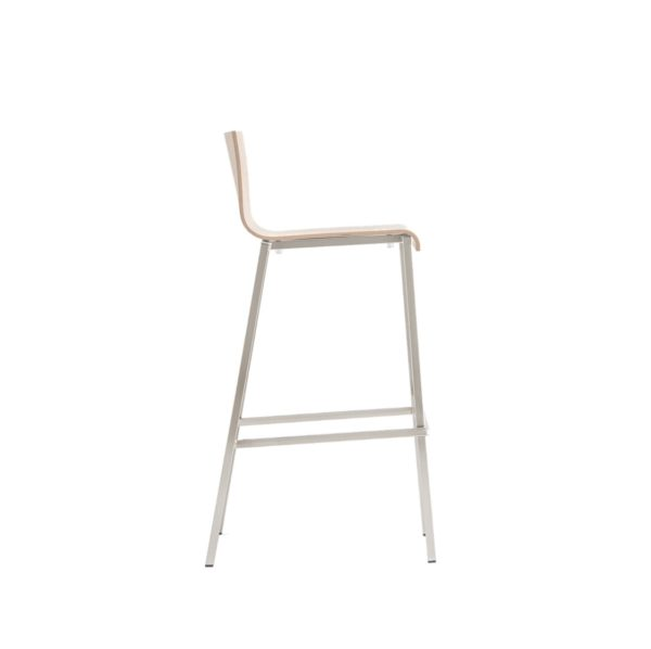 Kuadra Wood Bar Stool 1326 DeFrae Contract Furniture Side View