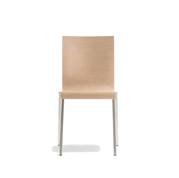 Kuadra Wood Side Chair 1321 Pedrali at DeFrae Contract Furniture Natural