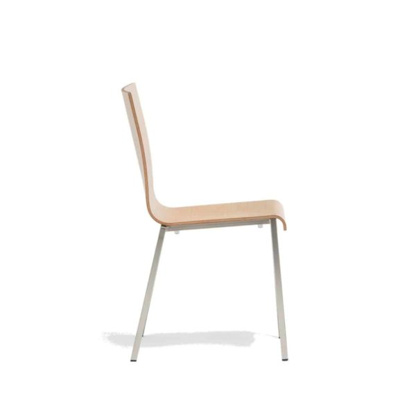 Kuadra Wood Side Chair 1321 Pedrali at DeFrae Contract Furniture Natural Side On