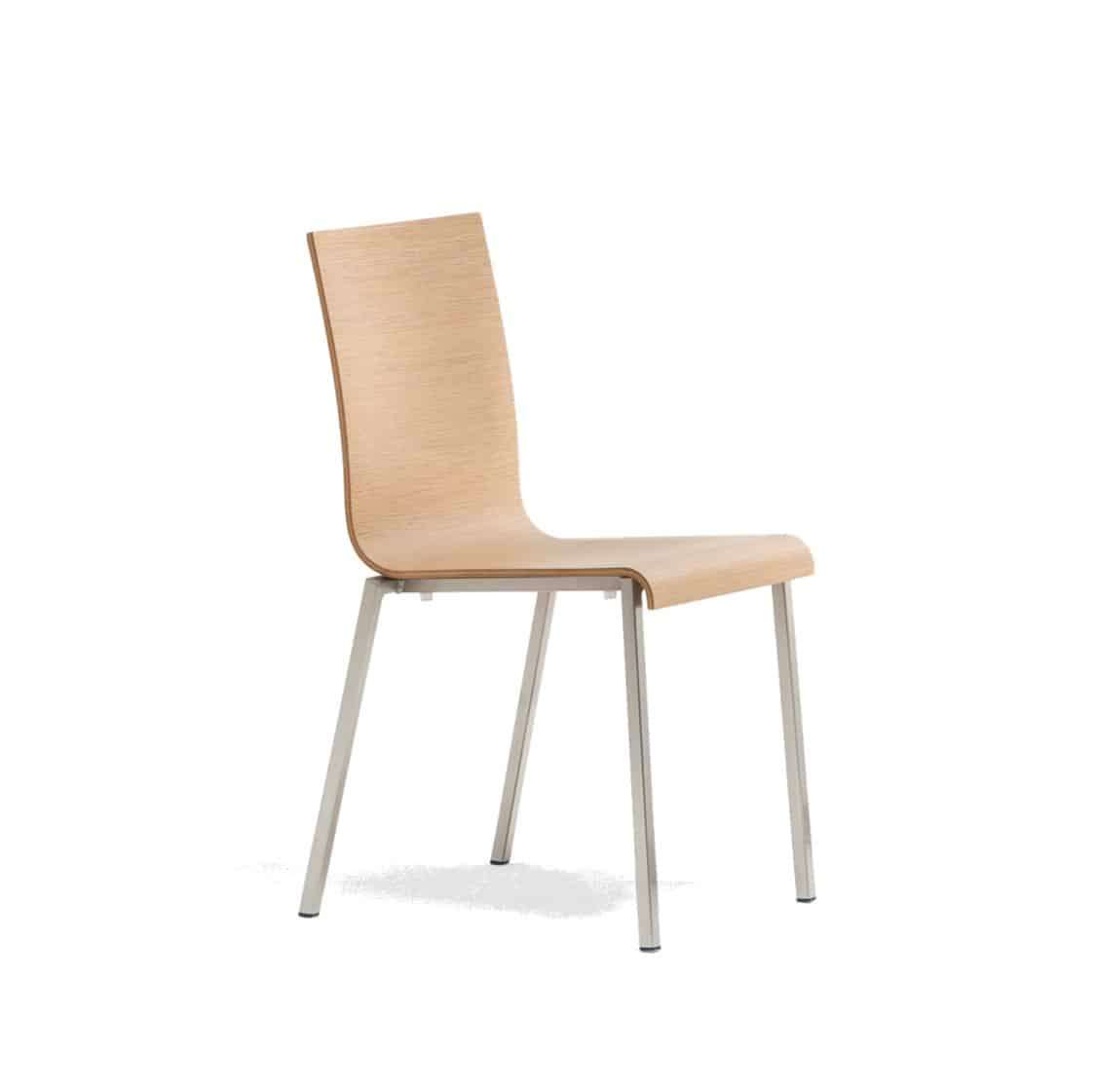 Kuadra Wood Side Chair 1321 Pedrali at DeFrae Contract Furniture Natural Side