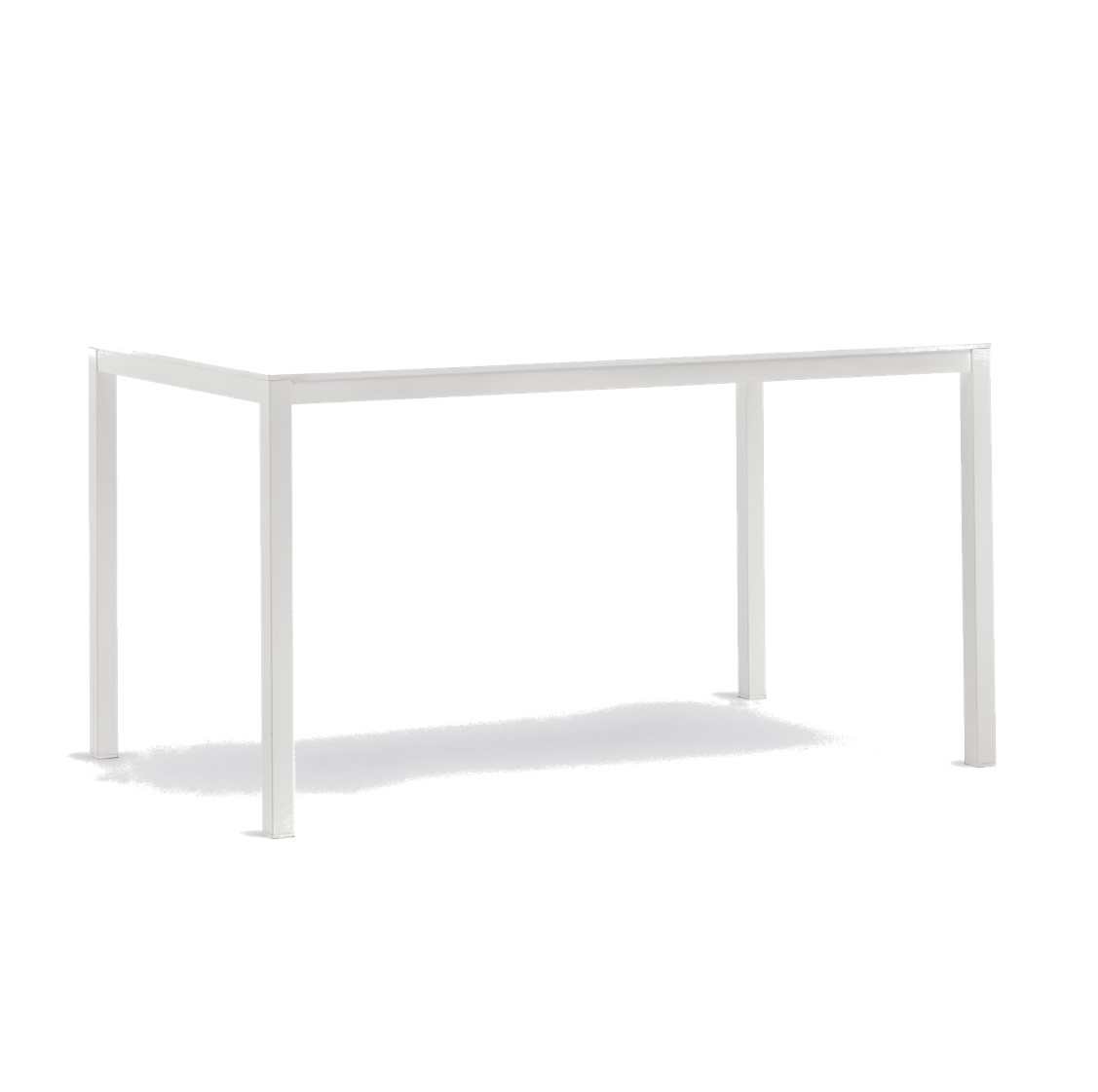 Kuadro SK Rectangle Table With Legs DeFrae Contract Furniture White
