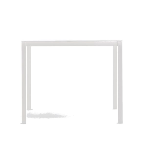Kuadro Square Table With Legs DeFrae Contract Furniture White