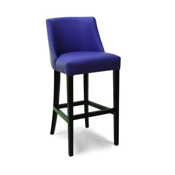 Laguna bar stool with classic legs at DeFrae Contract Furniture Blue