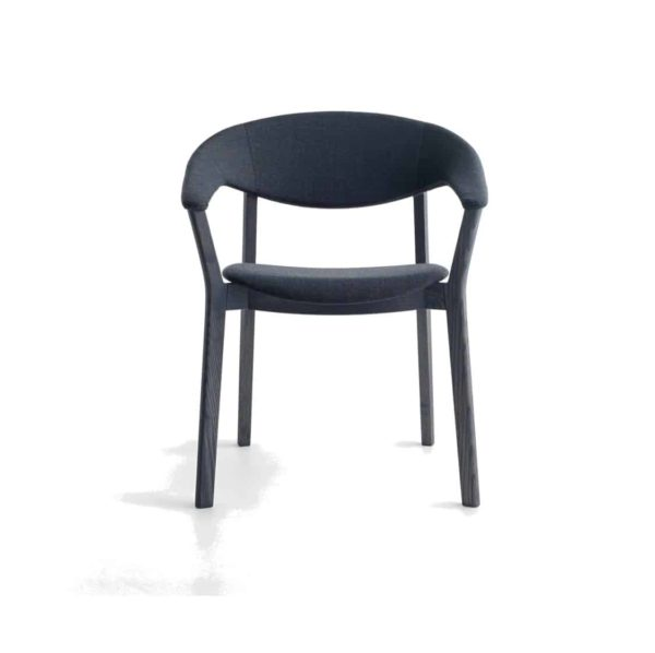 Lena Armchair Lene Crassevig at DeFrae Contract Furniture Black with black frame
