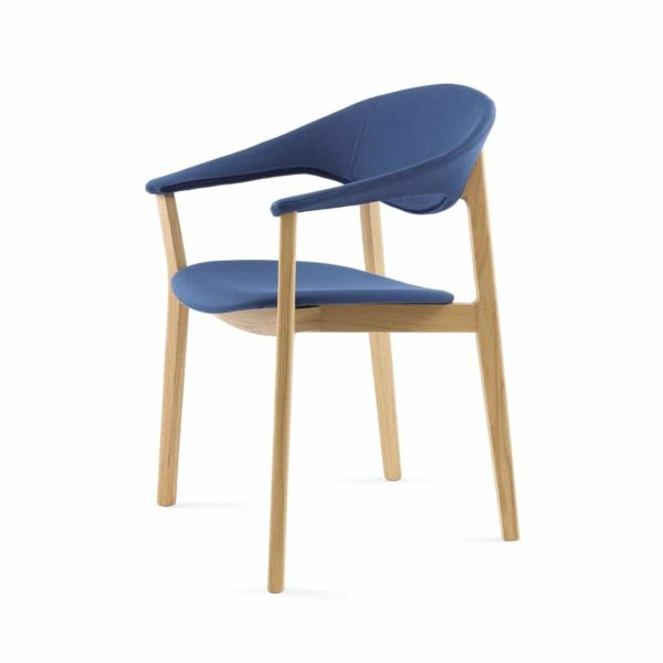 Lena Armchair Lene Crassevig at DeFrae Contract Furniture Left Side View Blue