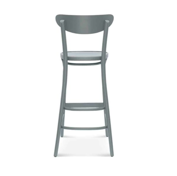 Leo Bar Stool Bentwood Fameg 1260 stool DeFrae Contract Furniture Back View