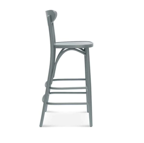Leo Bar Stool Bentwood Fameg 1260 stool DeFrae Contract Furniture Side View