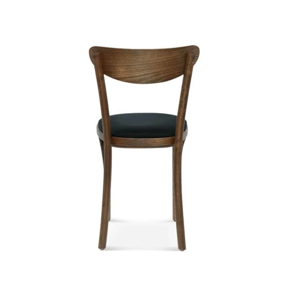 Leo Side Chair Bentwood Fameg 1260 stool DeFrae Contract Furniture Back View Upholstered Seat