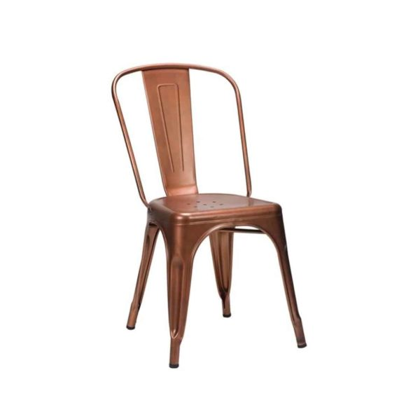 Leon Side Chair Industrial French Bistro Tolix A Copper