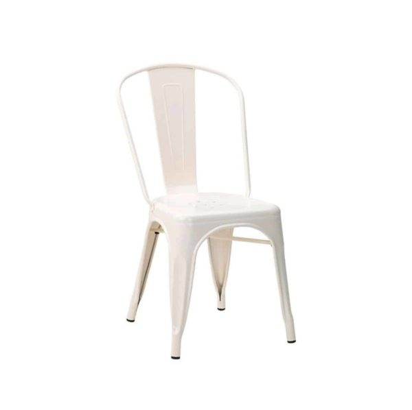 Leon Side Chair Industrial French Bistro Tolix A Cream