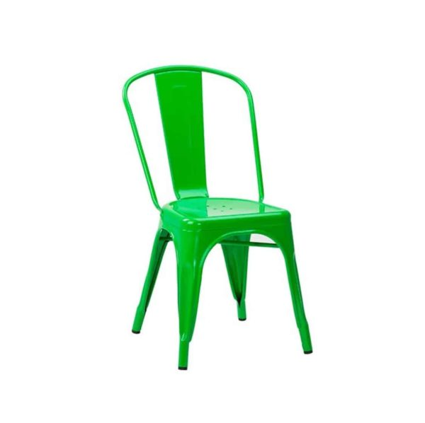Leon Side Chair Industrial French Bistro Tolix A May Green