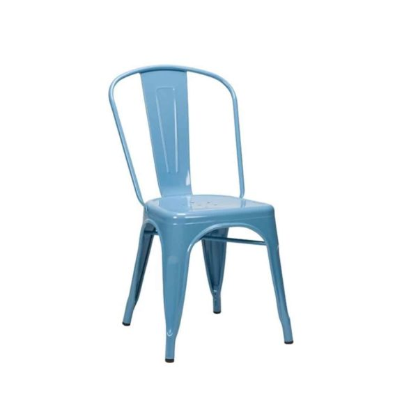 Leon Side Chair Industrial French Bistro Tolix A Pastel Blue