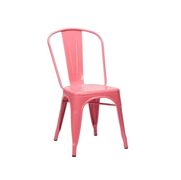 Leon Side Chair Industrial French Bistro Tolix A Pink
