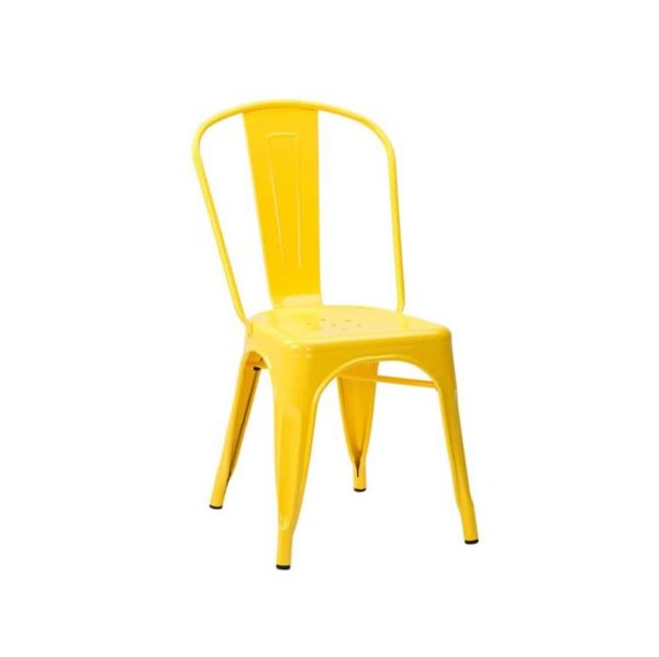 Leon Side Chair Industrial French Bistro Tolix A Yellow