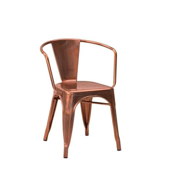 Leon armchair Industrial French Bistro Tolix A Copper