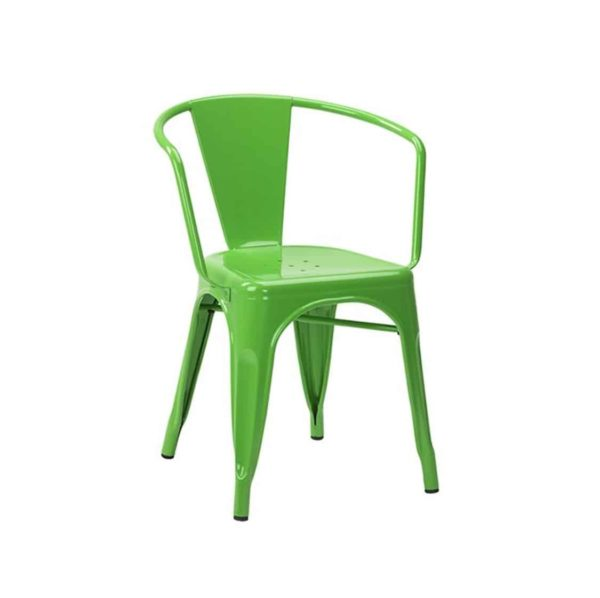 Leon armchair Industrial French Bistro Tolix Greeen RAL Colour