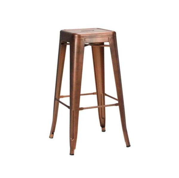 Leon bar stool Industrial French BistroLeon bar stool Industrial French Bistro Tolix A Copper Tolix A Copper