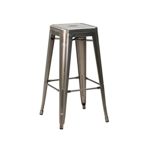 Leon bar stool Industrial French Bistro Tolix A Gun Metal