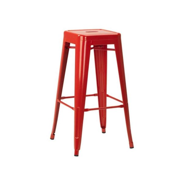 Leon bar stool Industrial French Bistro Tolix A Red