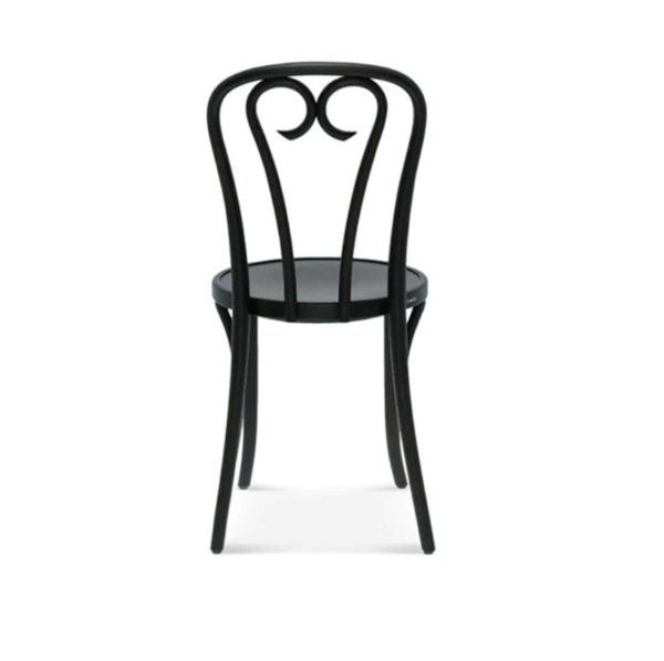 Lily side chair 16 classic bentwood chair DeFrae Contract Furniture Black stain Back View