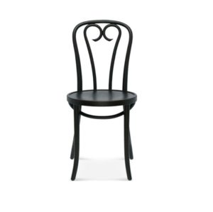 Lily side chair 16 classic bentwood chair DeFrae Contract Furniture Black stain Front View