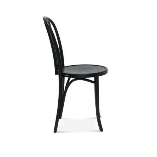 Lily side chair 16 classic bentwood chair DeFrae Contract Furniture Black stain Side View