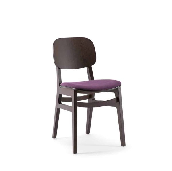 Lottie Side Chair DeFrae Contract Furniture Wooden Restaurant Chair X Kitti Xedra Upholstered Seat
