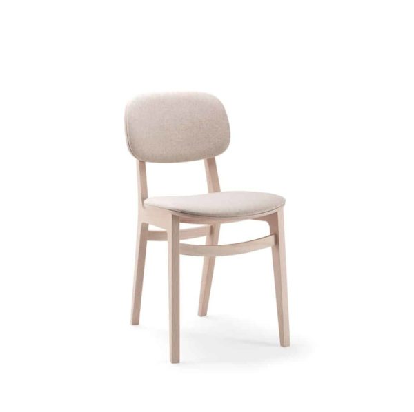 Lottie Side Chair DeFrae Contract Furniture Wooden Restaurant Chair X Kitti Xedra Upholstered Seat and Back 2