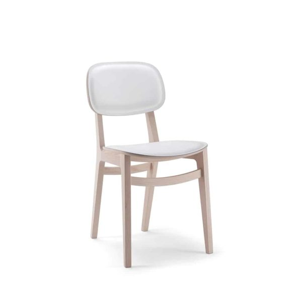 Lottie Side Chair DeFrae Contract Furniture Wooden Restaurant Chair X Kitti Xedra Upholstered Seat and Back