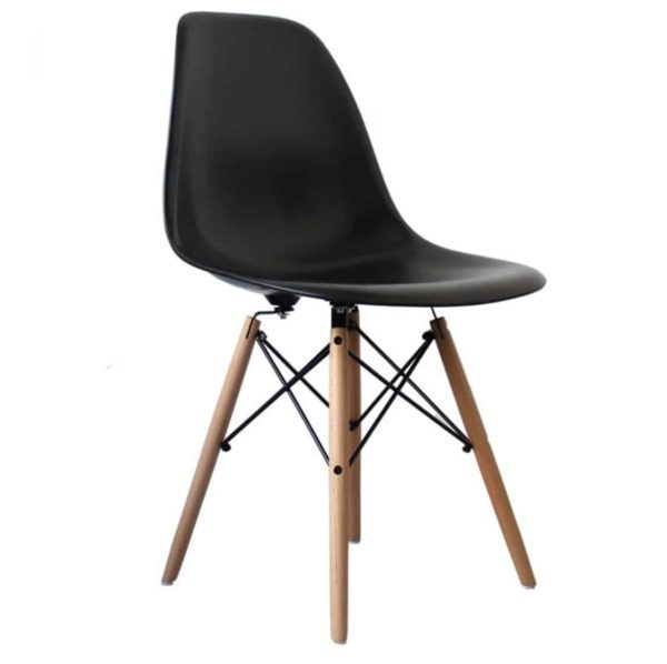 Lyon Side Chair Black DeFrae Contract Furniture Eiffel Style Side Chair Eames