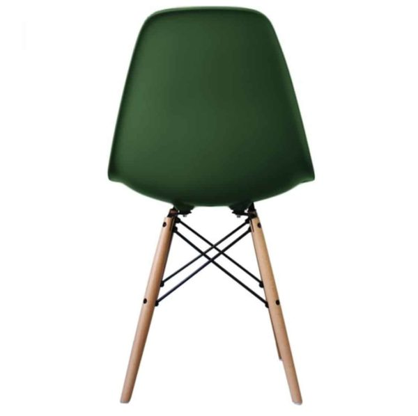 Lyon Side Chair Dark Green DeFrae Contract Furniture Eiffel Style Side Chair Eames